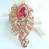 священный цветок брошь закрепить w красный горный хрусталь кристаллы ee04891c6