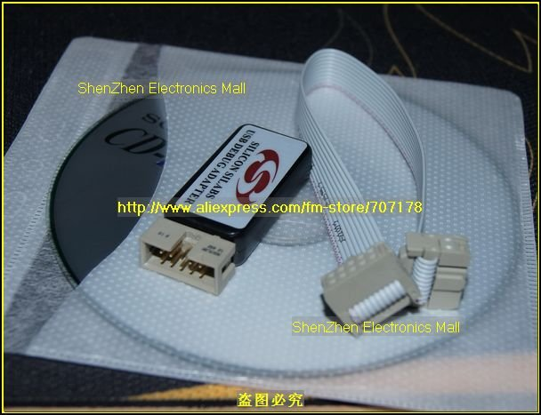 Free Shipping, C8051F emluator,USB Debug Adapter For c8051F MCU,U-EC3 U-EC5 U-EC6