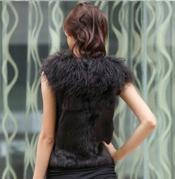 Fur jacket new wool ma3 jia3 rabbit hair vest tank top out the whole skin aaa 380