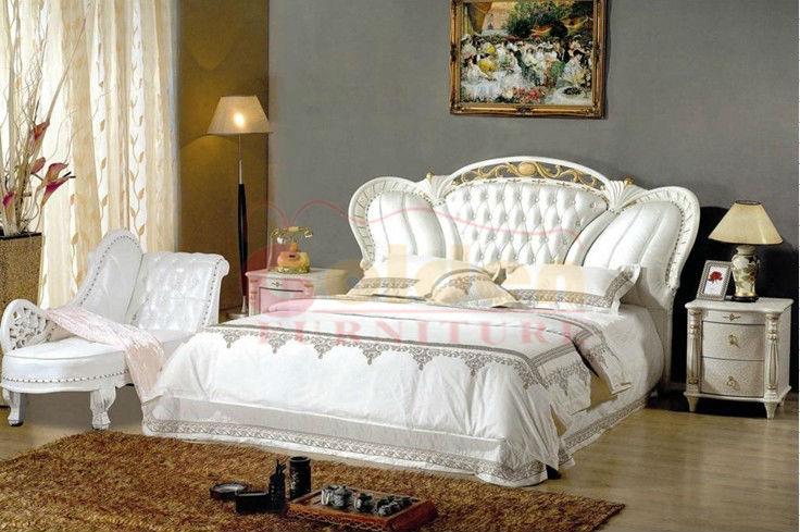 White Bedroom Furniture Carved Solid Wood King Beds Buy Carved Solid