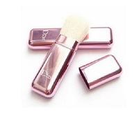 Кисти для макияжа HB836 Mini Face WOOD Brush Eye Shadow Travel Brush with lid Pink Women New drop shipping