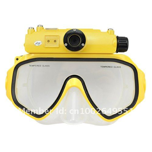 4GB RD34 Diving Mask Liquid Image 15M Underwater Digital Camera 5.0MP CMOS Sensor
