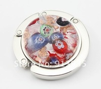 Детали и Аксессуары для сумок New style lots mix color coloured glaze and alloy round bag hanger /purse hook