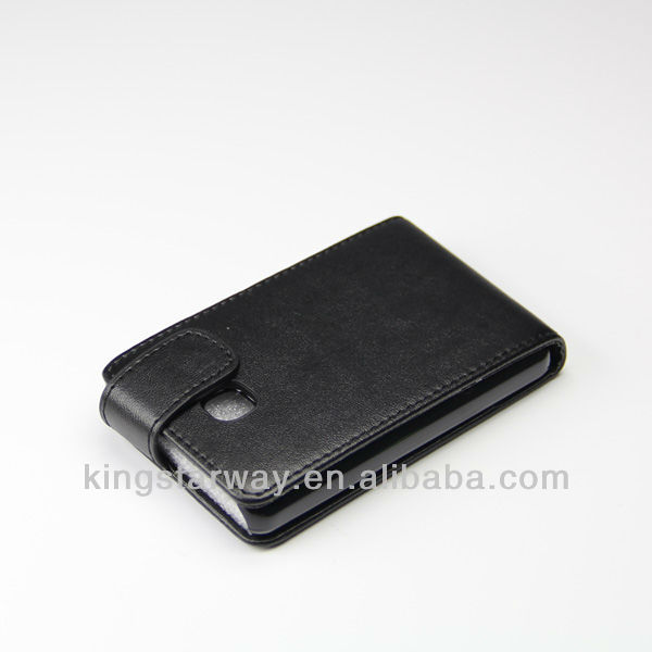 Factory price flip leather case for LG Optimus l3 e400