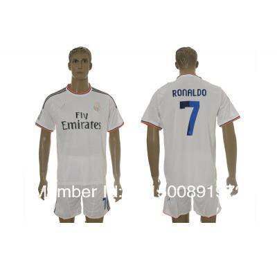 2013-2014 Real Madrid ronaldo 7# white home socccer jerseys.jpg