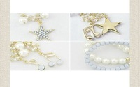 Min.order is $15(mix order)Hot New arrival Pearl Pentacle note Bracelet Bangle/ H029