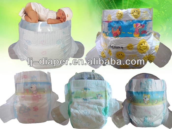 FREE Samples! High Absorbent Wholesale Sleepy Baby Diapers In Bales