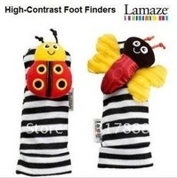 baby rattle baby toys Lamaze Garden Bug Wrist Rattle+Foot Socks 4pcs a set, Wrist Socks handsRattles