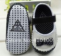Пинетки S014 New Coming Very Cute children's Warm shoe white-black dot Beautiful Baby Shoes color black-blue soft sole baby shoe