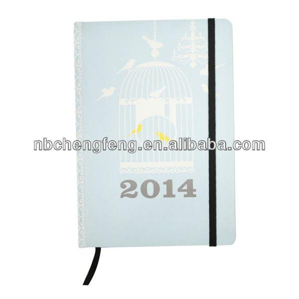rose spiral pvc notebook