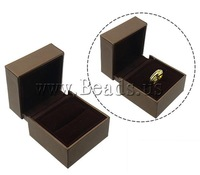 Ювелирный набор Cardboard Jewelry Set Box, New Jewelry, pendant & finger ring & necklace, with Velveteen, brown