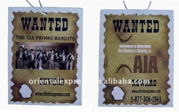 2014 NEWEST paper air freshener for car,paper car air freshener