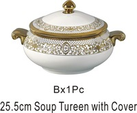 10-inch high-grade bone china ceramic tableware lid double ears small stew pot small stockpot