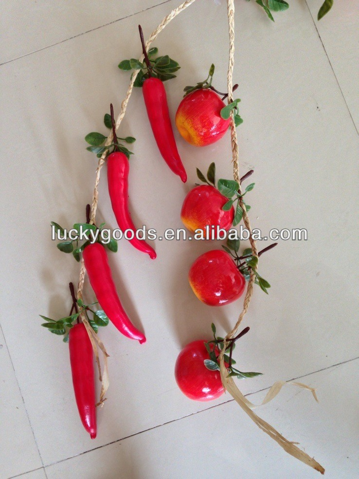 artificial decorative wall hanging fruit for fruit shop or centerpiece decoration