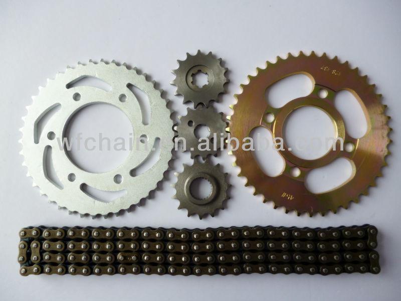 China Bajaj Motorcycle Spare Parts/chain and sprocket kits