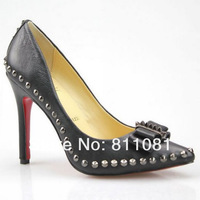 sexy women shoes spikes shoes high heels platform pumps genuine leather shoes