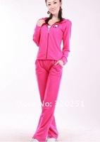 Женские толстовки и Кофты Han 2013 new lady clothing + pants 2 pieces tracksuit lady leisure dress of050