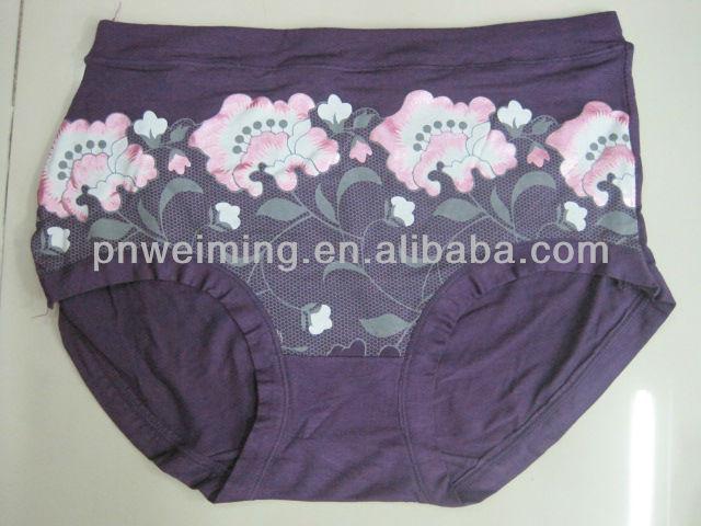 deep color large size women underwear