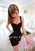 повелительницы новый красивый сексуальный недоуздок использовать низк отрезало ночных тонкий платье Ницца