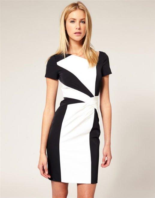Фото в белом или черном платье