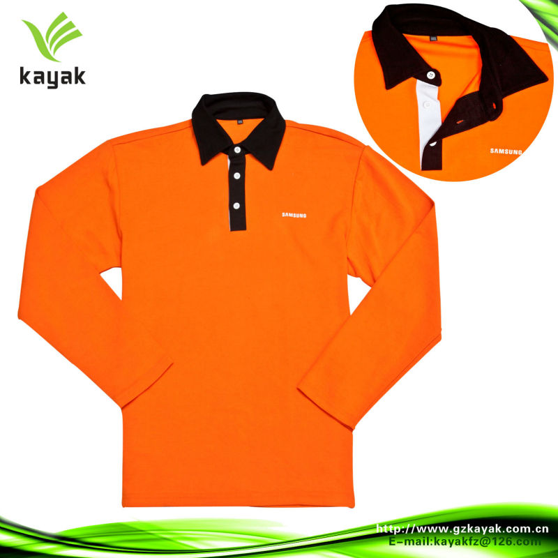 Two color zipper collar dry fit polo shirt design