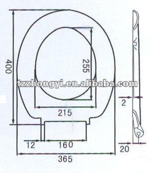 Small Size Duroplast Toilet Seat Buy Sanitary Seat Western Toilet Seat Adju