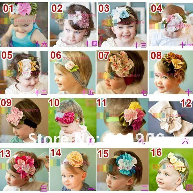20pcs/lot-TOP BABY HEADBANDs hair head wrap band baby infant newborn girls PINK Head Flower
