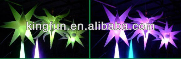 Most popular high quality inflatable LED star with good price