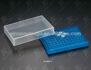 Laboratoire boîte de spécimen / rack tube à essai / microtube boîte de rangement pour 0.2 ml microtube