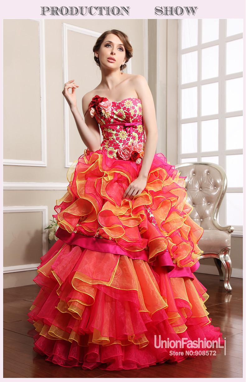 Colorful Wedding Dresses