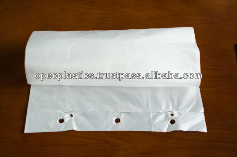 HDPE block-headed bags - plastic bags
