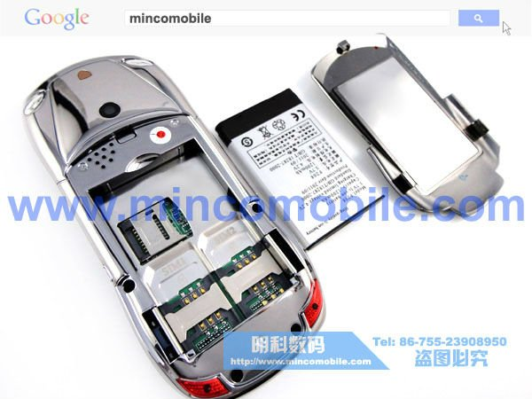 Free Shipping F977 Car Phone Unlocked GSM Dual SIM Luxury Mobile Phone