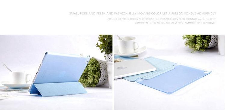 2014 Hot selling smart foldable back case cover for ipad mini