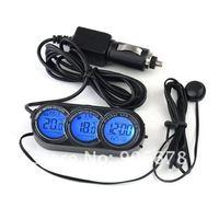 Панельный прибор для мотоциклов Car In /out Thermometer Clock Alarm Calendar LCD Screen #477