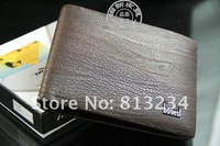 Кошелек New Brand 2013 Fashion Designer Genuine leather Wallets Men Bifold Purses Coffe Wholsale Z-48