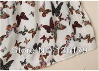 Женское платье QZ252 New Fashion Ladies' elegant beach butterfly print maxi dress pleated slim Vintage casual dress brand designer tank top
