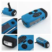1pcs ENE Hand Crank Solar AM/FM Dynamo Powered Radio LED Flashlight Phone Charger  DropShipping