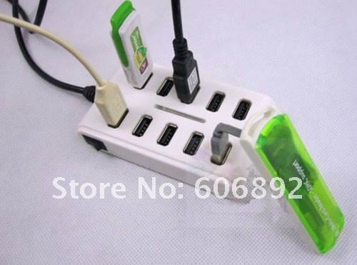 free shipping 10 ports USB HUB 2.0 with switch light DC input factory price good quality popular design