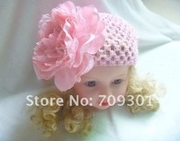 "Шапка для девочек New Coming 5.5"" Big Flower Beanies 12Set 5Colors"