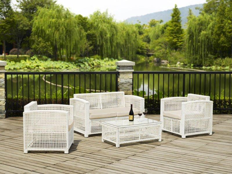 Gartenmobel Alu Anthrazit : Powder Coated Aluminum Frame Outdoor White Rattan Furniture  Buy