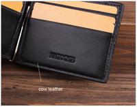 Everyday Big Discount Luxury Brand Designer Clip Purse Black Money Stainless Stell Clip Wallet Men Free Shipping