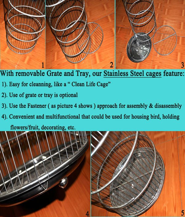 Decorative Wedding Bird Cages & Plant Holder - stainless steel