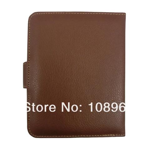 Smart Cover leather case for Kobo mini,kobo mini leather case,wake/sleep,Brown