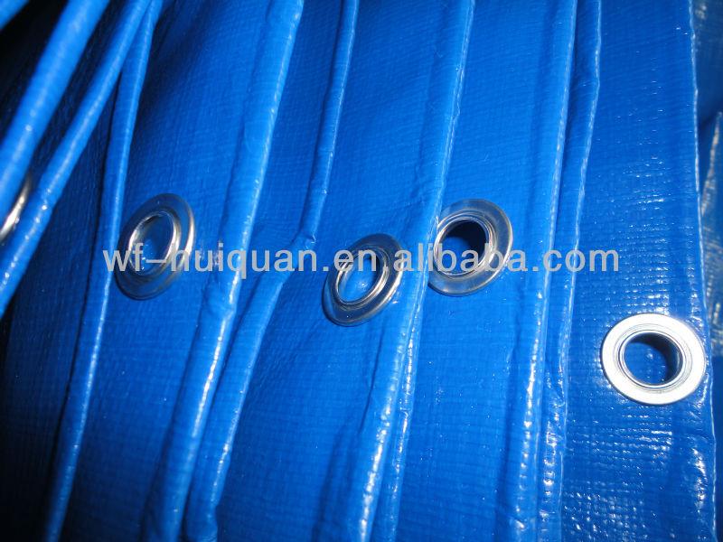 Waterproof pe tarpaulin with pp rope and aluminum eyelet