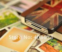 Чехол для для мобильных телефонов Cover case Old style, Vintage UK USA Flag, Back Cover case for Iphone 4 4s Airmail HK