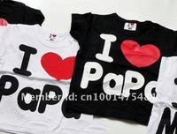 Футболка для девочки Discout Baby clothes, i love papa mama 10pcs/lot T-Shirt boy & girl Shirt, Infants & Toddlers T shirt