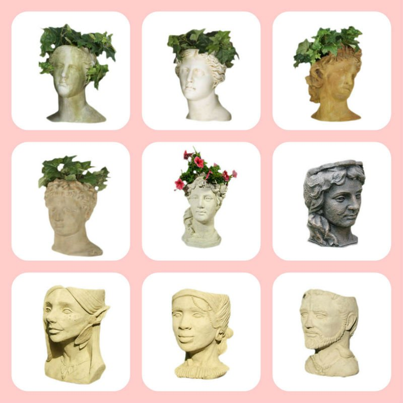 Decorative Clay Lady Face Wholesale Head Flower Pots Buy