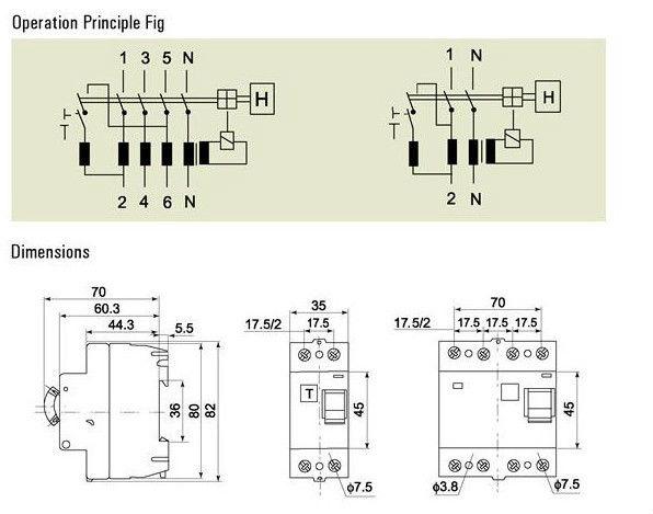 N7-II PFIM Residual Current Device/RCD