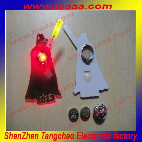 newest design led flashing badge halloween china supplier