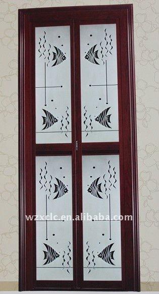 Puertas De Aluminio Para El Baño:Cuarto de baño de aluminio plegable de la puerta-Puerta